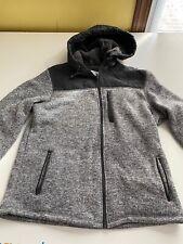 Primark Sweater Fleece Jacket Slightly Fitted Full Zip Hooded Size Large Regular