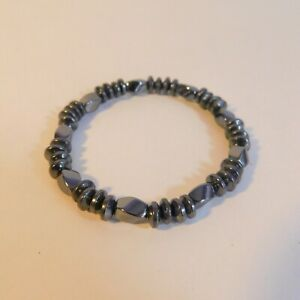 Stretchy Bracelet Bangle black hematite beaded costume Jewellery