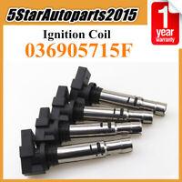 4x Ignition Coil 036905715F for VW Jetta Polo Tiguan Audi A1 A3 Skoda Seat Ibiza