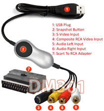 Scart RCA A/V S-Video To USB DVR Adapter MPEG Recorder Editor