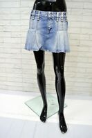 Gonna in Jeans REPLAY Taglia Size M Short Skirt Woman Minigonna Cotone