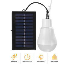 New listing Solar Panel Powered Led Lights Bulb Light Tent Lamp Yard Camping Outdoor Indoor