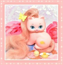 ❤️Vtg Mattel Little Pretty KITTY My Little Pony Friend Mimi Pink Cat Star 1989❤️