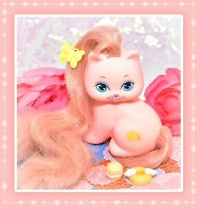 ❤️Vtg Mattel Little Pretty KITTY My Little Pony Friend Mimi Pink Cat Star 1989❤️