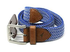 Tommy Bahama ~ Leather Trimmed Men's Size Small Stretch Fabric Belt $98 NWT