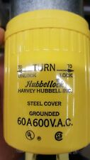 Hubbell HBL26419 Hubbellock Plug, 3 Pole, 4 Wire, 60 amp, 600V