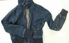 Juniors Volcom Blue Demin Boxer Jacket Full Zip Size Large