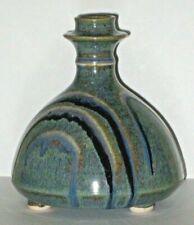 Steve Irvine Studio Art Pottery Blue Bottle Vase Ontario Canada