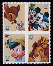 #3868a 37c Disney: Friendship, Se-Tenant Block, Mint Never Hinged