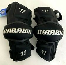 New Warrior Nation Adult Silver & Black Size Large Lax Lacrosse Arm Guards