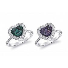 Natural Alexandrite 3.13 carats set in Platinum Ring with Diamonds