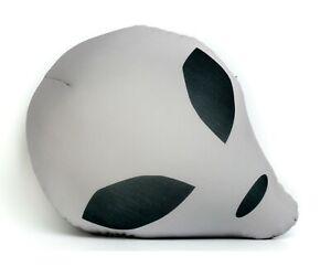 Grey Alien Head Microbead Throw Pillow Decorate Bed Sofa Chair Sci-Fi Movie Fan