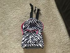 JanSport Superbreak Wheeled Rolling Book Bag Carry-On Backpack Black/White