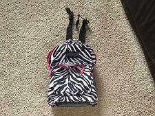 JanSport Superbreak Wheeled Rolling Book Bag Carry-On Backpack Black/White