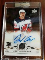2018-19 UD Clear Cut Rookie Autos, #CCR-AN, Joey Anderson, New Jersey Devils