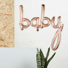 LARGE BABY ROSE GOLD BALLOON & TUBE BIRTHDAY CHRISTENING PARTY BABY SHOWER