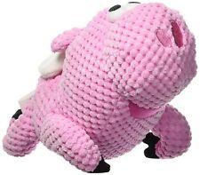 GoDog FLYING PIG Squeaker Dog Toy w/Chew Guard SMALL