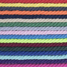 """Twisted Cotton Rope - 5/8"""", 3/8"""", 3/4"""", and 1"""" Diameters - 4 Colors - 10-100 ft"""