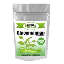 200 Glucomannan Max Konjac Fibre Diet Slimming Supplement Pills STRONG DIET