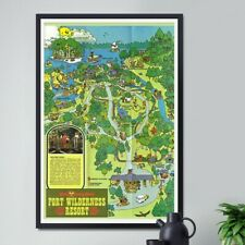"1978 Fort Wilderness Poster! (up to 24"" x 36"") - Disney World - Magic Kingdom"