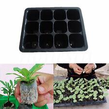 Durable 12 Cells Hole Plant Seeds Grow Box Tray Propagation Seeding Case Plastic