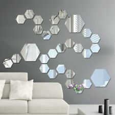 Mirror Wall Sticker Removable Decal Acrylic Art Mural Home Living Room Decor