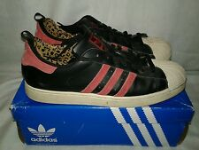 Men Adidas Superstar II Shoes Size 13 Black Red