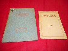 1927 ROYAL OAK (MI) HIGH SCHOOL YEARBOOK ~ The Oak ~ Plus 1928 Mid-Year Booklet