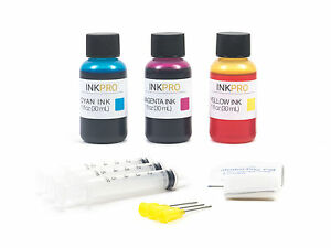 InkPro Premium Tri-Color Ink Refill Kit for HP 110 30ml
