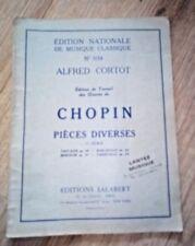 PARTITION EDITION NATIONALE DE MUSIQUE CLASSIQUE N° 5134 CHOPIN PIÈCES DIVERSES