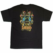 Black Label-Lucero og Barras camiseta Negro-S L-nuevo Patinetas Skate Punk 80