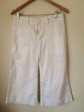 Gap Taille 4 coton lycra blanc pantalon raccourci < T4542