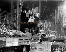 1898 New York City Boy Waits at the Door of Market Glass Photo Negative #7