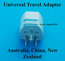 Universal UK USA EURO to Australia China New Zealand AC Power Plug Adapter