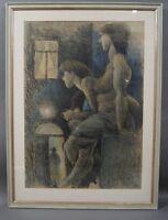 """Fritz Meinhard """"Fischle"""" (1910 - 1997) - Besuch im Freudenhaus - Nude - Erotik"""