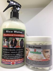 RICE WATER +RICE CREAM ARE MIRACLE TONIC FOR HAIR LOSS TREATMENT,TERRIFIC RESULT