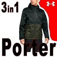UNDER ARMOUR MEN'S UA PORTER 3-IN-1 JACKET STORM ZIP-OUT INFRARED 1316018-002 L