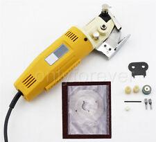 Round Knife Scissors Cloth Fabric Cutter Machine 110V AC 170W 70mm Electric
