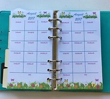 Filofax Personal Planner Academic Diary August 2017 - July 2018 Monthly Calendar