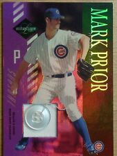 MARK PRIOR -  2003 LEAF LIMITED GAME-WORN JERSEY & BUTTON PATCH    #1/6