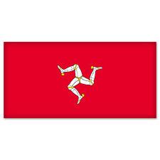 """Isle of Man Flag car bumper sticker window decal 6"""" x 3"""""""