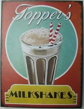 Iron Tin Metal Sign Home Kitchen Toppers Milkshake Diner drive in Decor wall art