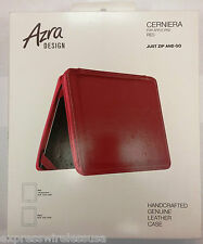 """Sena Zipper Leather case for iPad 2, 3, & 4 Fits All 9.7"""" iPads - Red"""