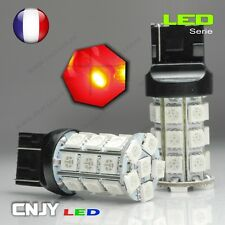 2 AMPOULES CNJY 27 LED SMD CULOT T20 W21/5W 7443 ROUGE HID XENON AUTO 12V