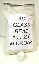 GLASS BEAD ABRASIVE BLASTING MEDIUM 100-200 MICRON GRADE AD AQUA BLASTING
