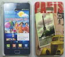 COVER CUSTODIA SAMSUNG GALAXY S II I9100 CARTOLINA PARIGI TOUR EIFFEL