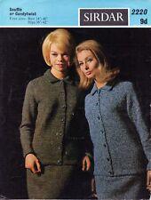 ~ Vintage 1960's Sirdar Knitting Pattern For Lady's Smart Jacket & Skirt Suit ~