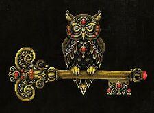 The Key of Wisdom - Owl - Cross Stitch Chart - FREE POST