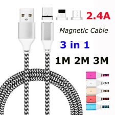 1M 2M 3M 3in1 Magnetic Adapter Charger Typc C/IOS/Micro USB Data Charging Cable