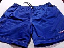 Vintage Polo Sport Ralph Lauren Nylon Swim Shorts Blue Size Medium